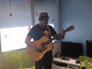 MARK PINHO playing at Kapiolani Children's Hospital